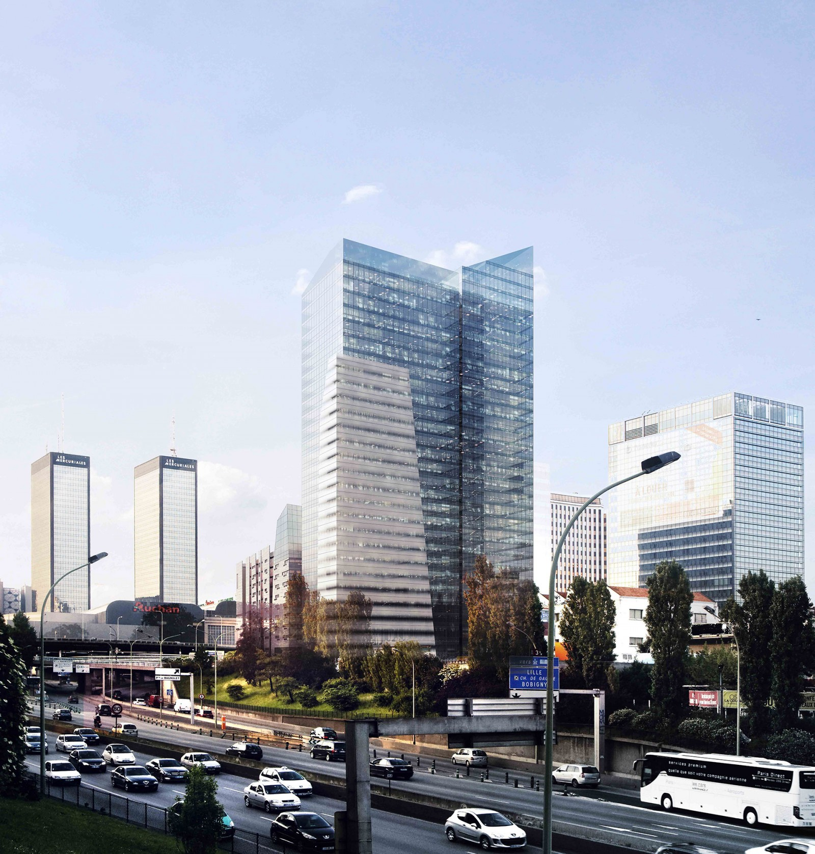 Hotel et bureaux a Bagnolet